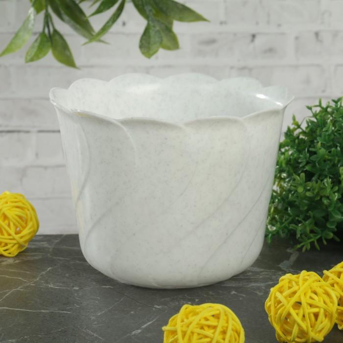 Кашпо d=10,8 см, цвет белый