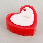 """Свеча """"Сердце малое"""" с декором  6 х 3 см, цвет красный"""