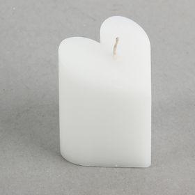 Свеча-пирамида 'Сердце' 6,8 х 7,5 см, цвет белый Ош