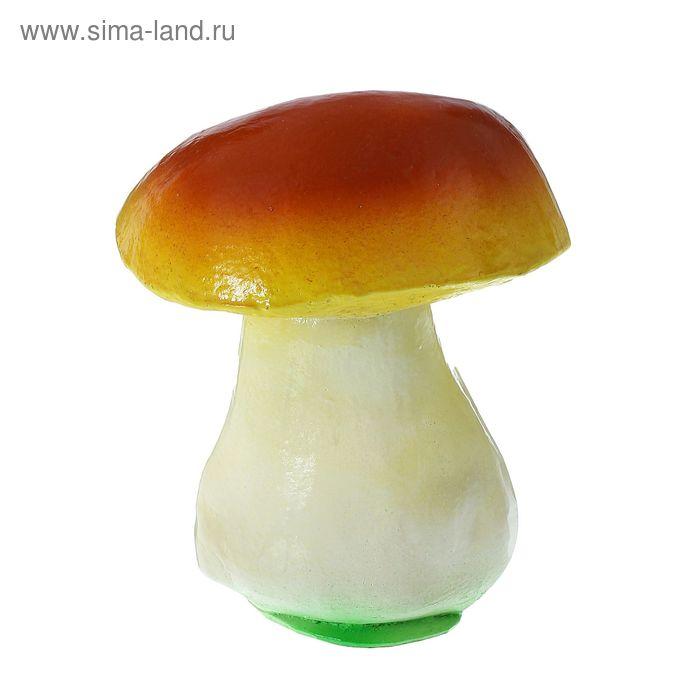 """Садовая фигура """"Гриб"""" коричнево-жёлтая шляпка"""