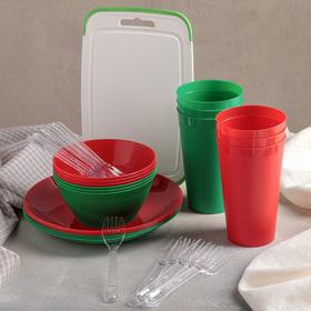 Набор для пикника на 6 персон (контейнер 6,5 л), 32 предмета Ош