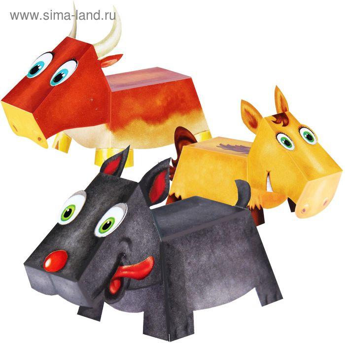 """Игрушка-оригами """"Домашние животные"""" + клейкая лента"""