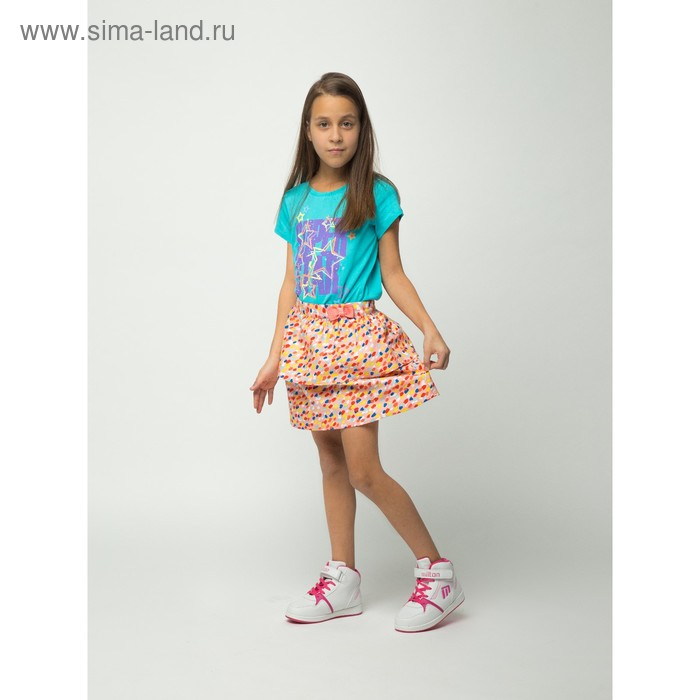 Юбка для девочки, рост 146 см (76), цвет персик (арт. CJ 7T033)