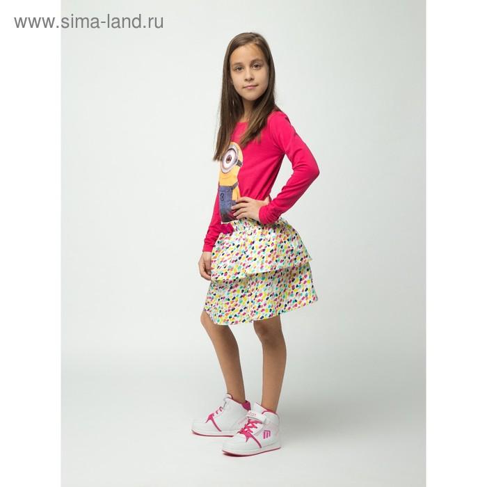 Юбка для девочки, рост 140 см (72), цвет розовый (арт. CJ 7T033)