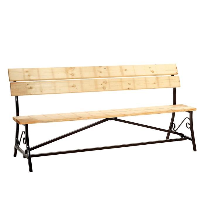 Скамейка с досками и ковкой, 2000 × 900 мм, микс