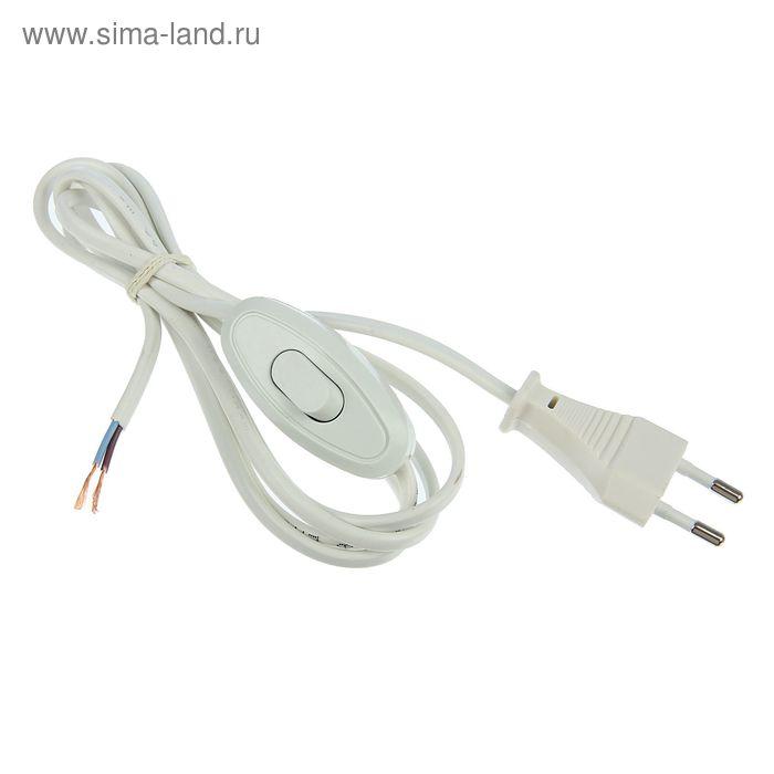 Шнур с электрической вилкой и проходным выкл. UNIVersal А1060, 1.7 м, ШВВП 2х0.75 мм2, белый   13926