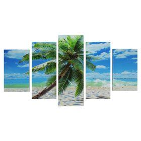 """Модульная картина на подрамнике """"Пальма на острове"""""""