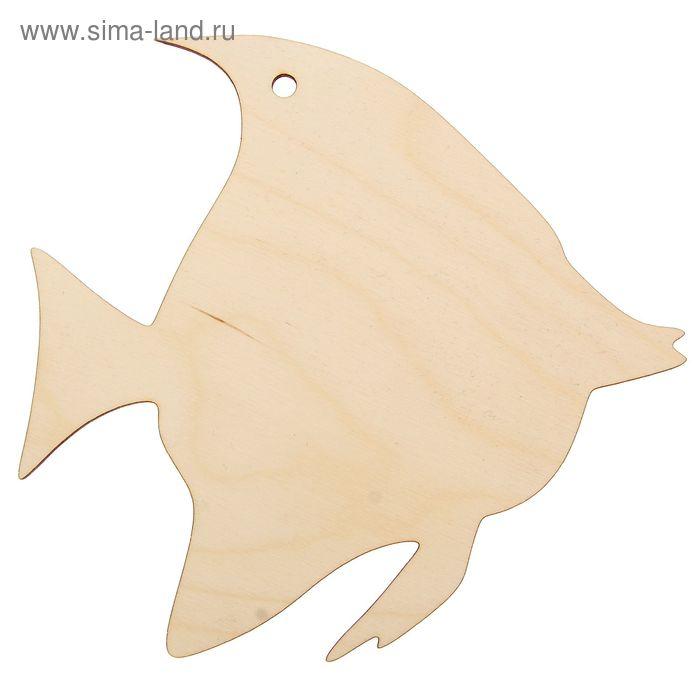 """Декоративная разделочная доска """"Рыбка  малая"""" 19,5х18,8 см (80609)"""