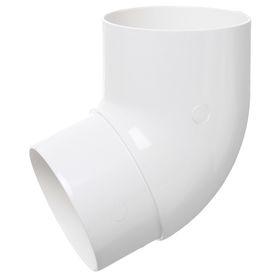 Колено трубы 67°  белый