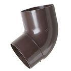 Колено трубы 67°  коричневый