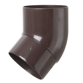 Колено трубы 45°  коричневый