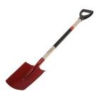 Лопата штыковая, деревянный черенок, с ручкой