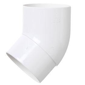 Колено трубы 45°  белый