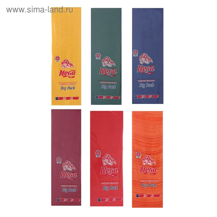Салфетки Nega Big Pack, 1 слойные  400 листов МИКС
