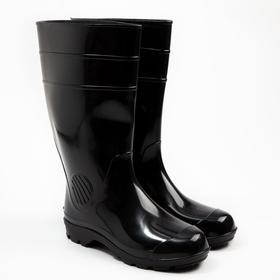 Сапоги мужские, цвет чёрный, размер 44
