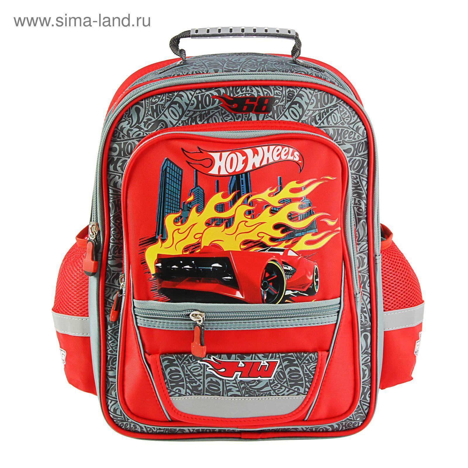 ef156197cdb9 Рюкзак Mattel Hot Wheels Junior 39*34*19 для мальчика, красный ...