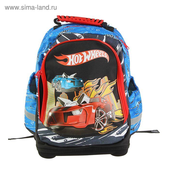Рюкзак школьный эргономичная спинка Mattel Hot Wheels 39*34*17 Nice bag, для мальчика, черный