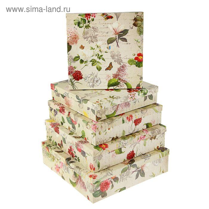 """Набор коробок 5 в 1 """"Цветы ретро"""""""