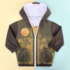 """Куртка для мальчика Collorista """"Лис"""", рост 86-92 см (28), 1,5-2 года + рюкзак"""