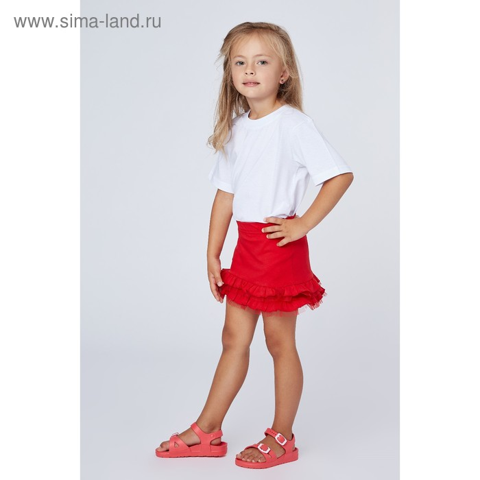 """Юбка для девочки """"Маки"""", рост 122 см (62), цвет красный (арт. ДЮК170804)"""