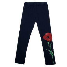 """Легинсы для девочки """"Маки"""", рост 110 см (56), цвет тёмно-синий ДРЛ894804"""