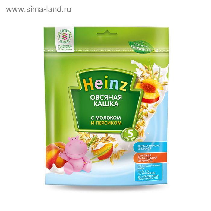Каша молочная Heinz овсяная с персиком, пауч 250 г