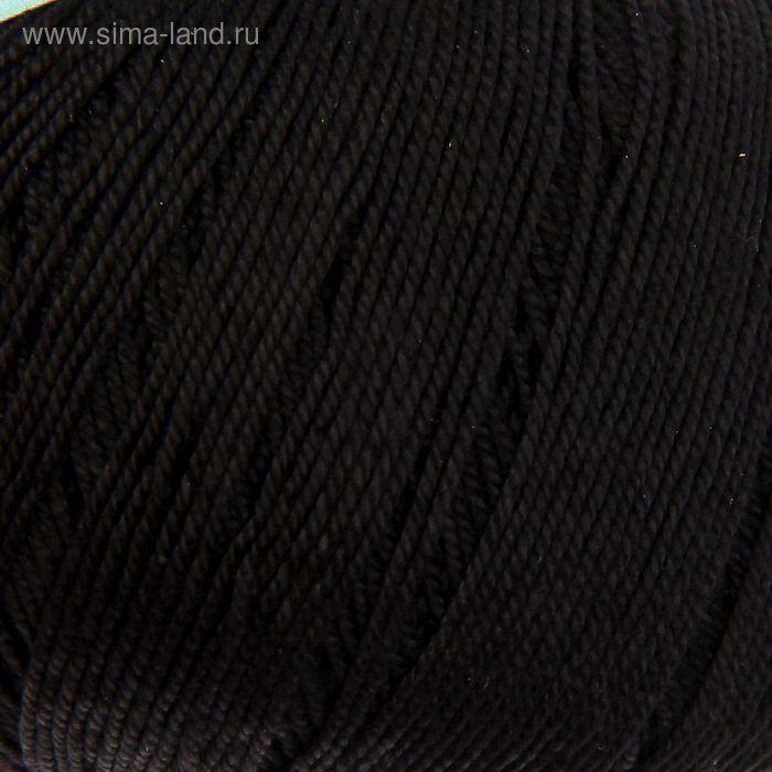 """Пряжа """"Успешная"""" 100% мерсеризованный хлопок 220м/50гр (02-Черный)"""