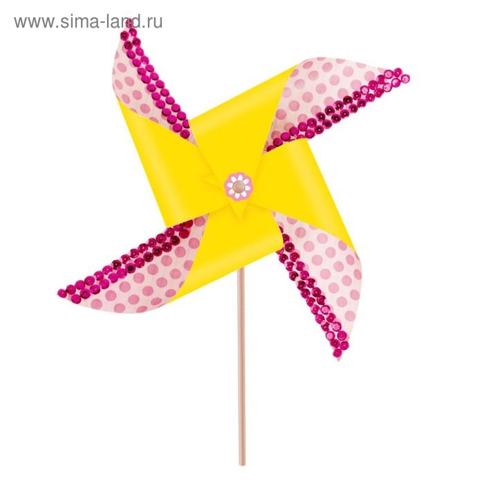 """Набор для создания летней игрушки """"Ветерок"""" розовый + декор"""