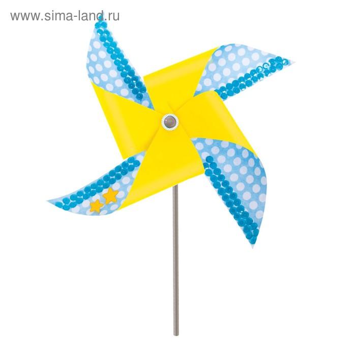 """Набор для создания летней игрушки """"Ветерок"""" голубой + декор"""