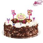 """Украшение для торта """"С Днем Рождения"""", феи ВИНКС"""
