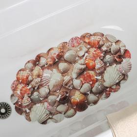 Коврик для ванны «Ракушки», 35×65 см - фото 4653394