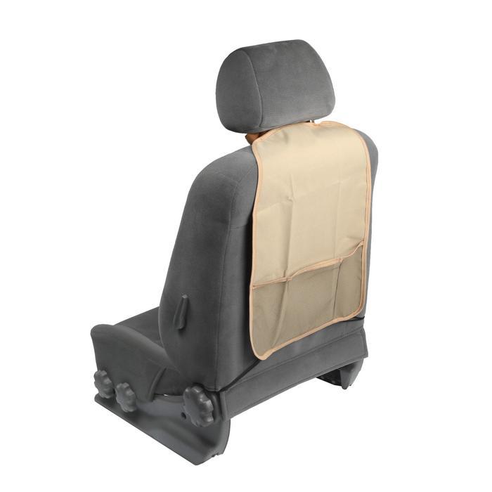 Защитная накидка-органайзер на сиденье TORSO, 55х37 см, бежевая