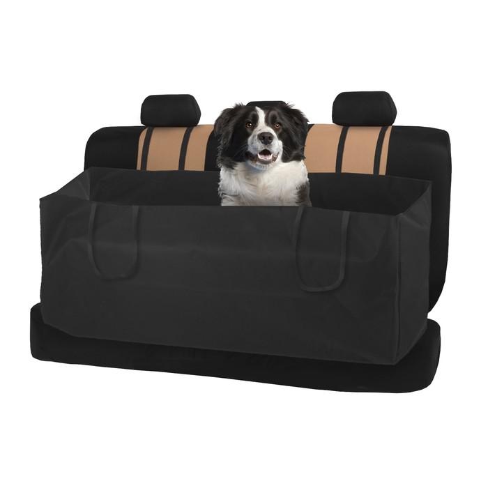 Защитная накидка на заднее сиденье TORSO, для перевозки животных, черная