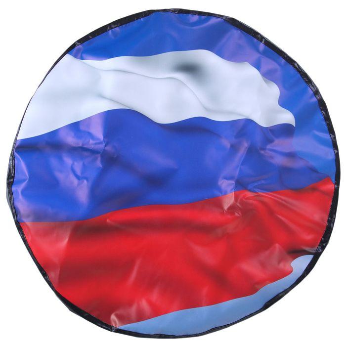 Чехол запаски, размер R 16-17, флаг России большой