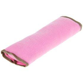 Накладка на ремень безопасности TORSO, 30х10 см, флис, розовая