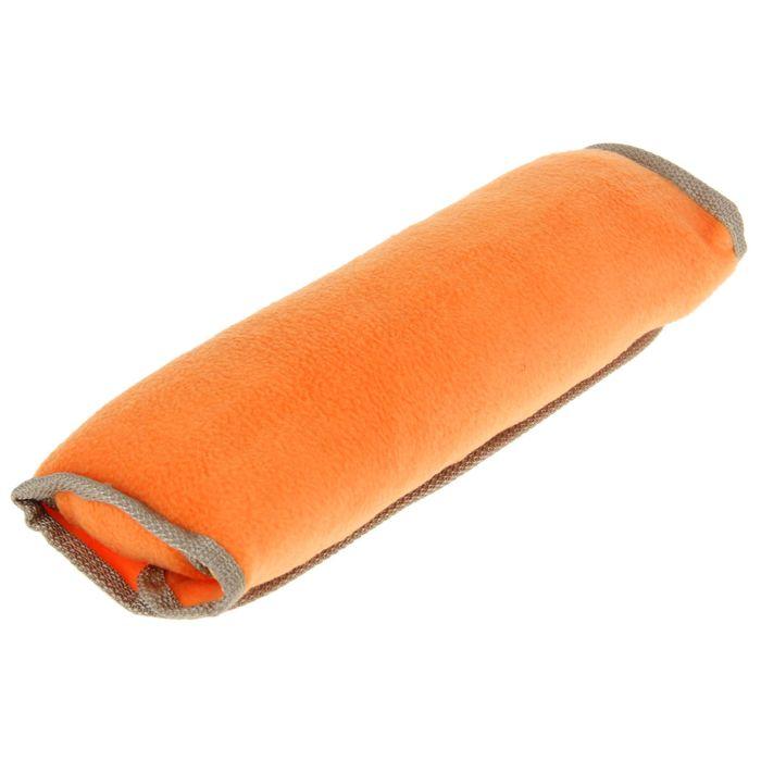 Накладка на ремень безопасности TORSO, 30х10 см, флис, оранжевая