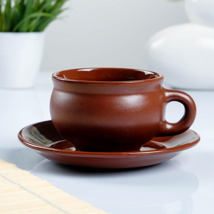 Чашка с блюдцем шелк 0,25л - фото 797705380