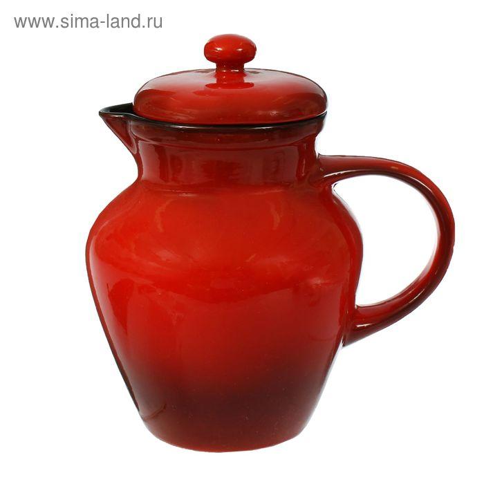Кувшин для воды красный 1,7 л
