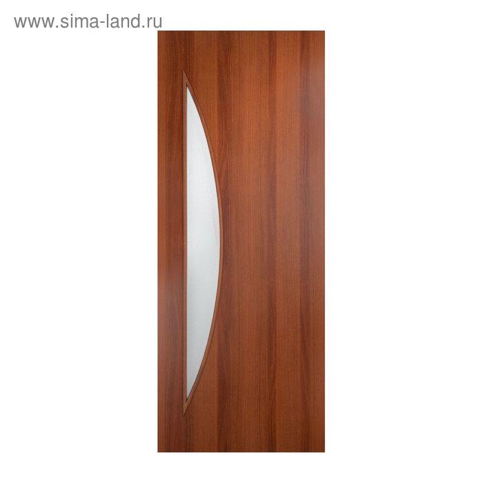 Дверное полотно остекленное С-6 Итальянский орех 2000х800
