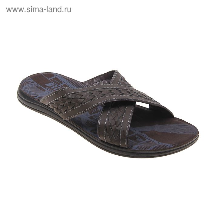 Туфли летние мужские открытые, цвет коричневый, размер 44 (арт. 38-8 NK)