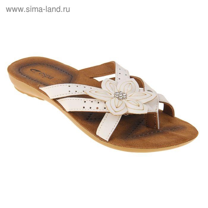Туфли летние женские открытые, цвет белый, размер 37 (арт. 143039-2 EW)