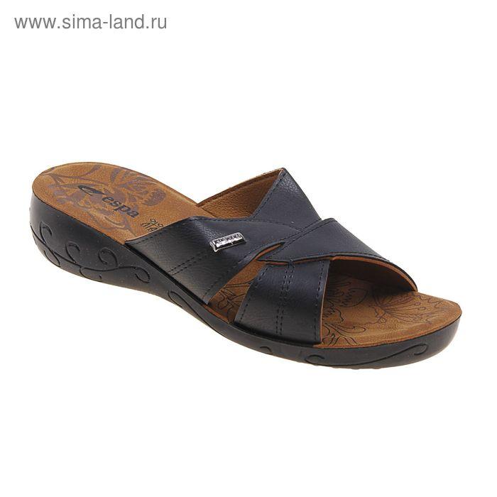 Туфли летние женские открытые, цвет чёрный, размер 39 (арт. 143013-1 EW)