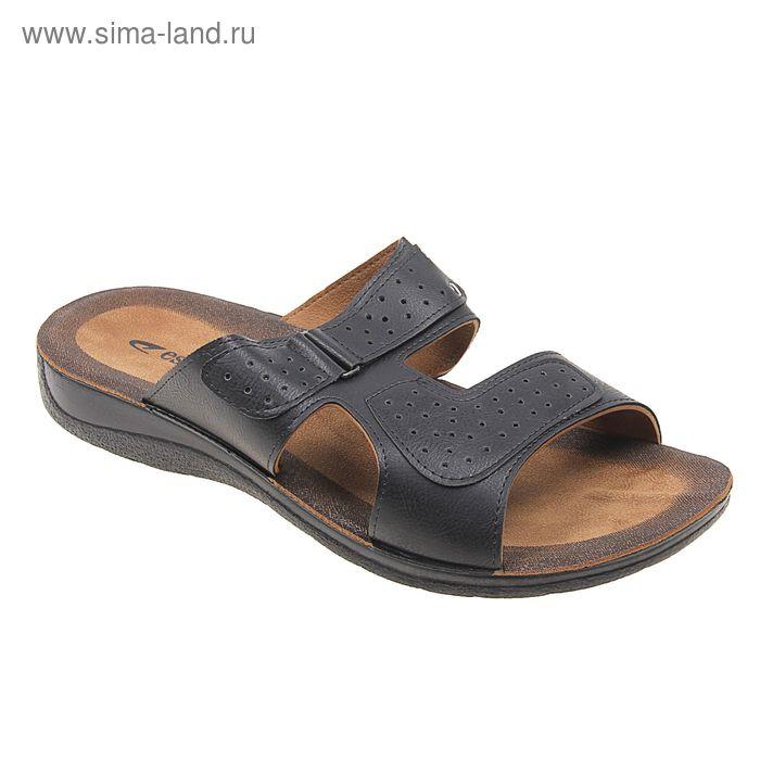 Туфли летние мужские открытые, цвет чёрный, размер 44 (арт. 143027-1 EМ)