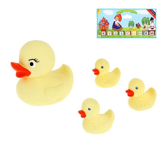 Набор резиновых игрушек «Весёлая семейка», 4 шт.