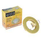 Светильник встраиваемый Ecola MR16 GU5.3 DL90, плоский, 30x80 мм, цвет перл. золото