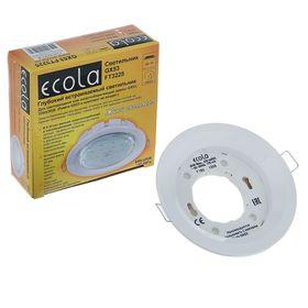 Светильник встраиваемый Ecola GX53 FT3225, глубокий, 27x109 мм, белый