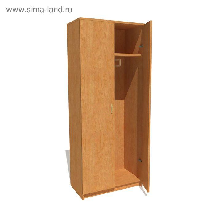 Шкаф для одежды средний 800*420*2025 бук бавария