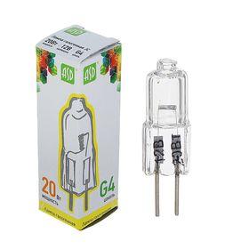 Лампа галогенная ASD, G4, 20 Вт, 12 В Ош