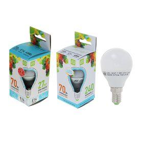 Лампа светодиодная ASD LED-ШАР-standard, Е14, 7.5 Вт, 230 В, 4000 К, 675 Лм