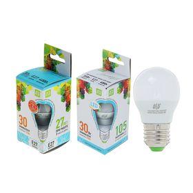 Лампа светодиодная ASD, Е27, 3.5 Вт,  4000 К, 320 Лм, 'шар' Ош